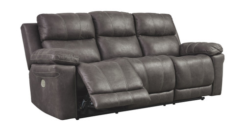 Erlangen Midnight Power Reclining Sofa with ADJ Headrest