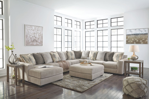 Ardsley Pewter LAF Corner Chaise, Armless Loveseat, Armless Chair, Wedge, RAF Sofa Sectional & Accent Ottoman
