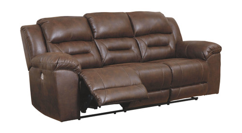 Stoneland Chocolate Reclining Power Sofa/Couch