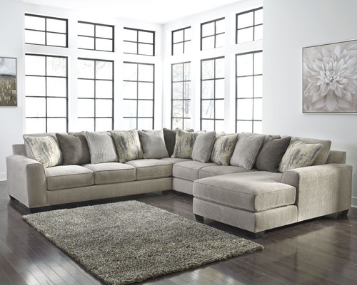Ardsley Pewter LAF Sofa, Wedge, Armless Loveseat & RAF Corner Chaise Sectional