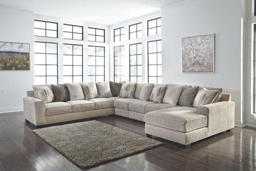 Ardsley Pewter LAF Sofa, Wedge, Armless Chair, Armless Loveseat & RAF Corner Chaise Sectional