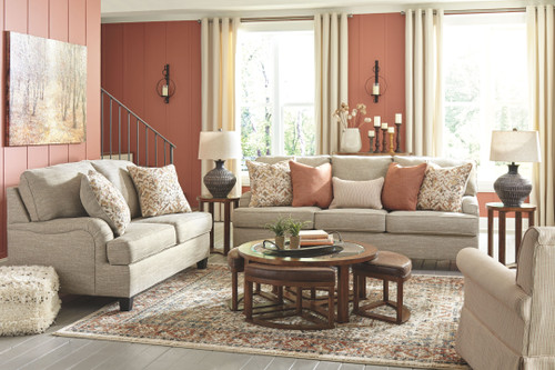 Almanza Wheat Sofa, Loveseat & Swivel Glider Accent Chair