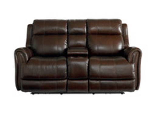 Marquee Club Level by Bassett Motion Loveseat w/Power & Console