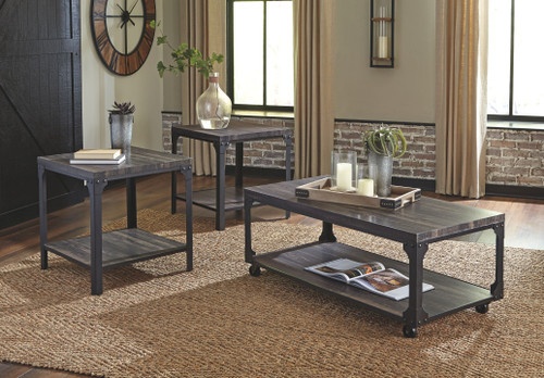 Jandoree Brown/Black Occasional Table Set (3/CN)