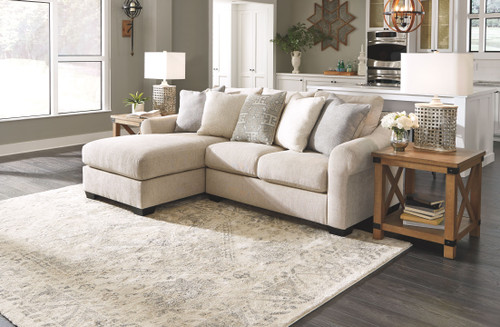 Carnaby Linen LAF Corner Chaise & RAF Loveseat Sectional
