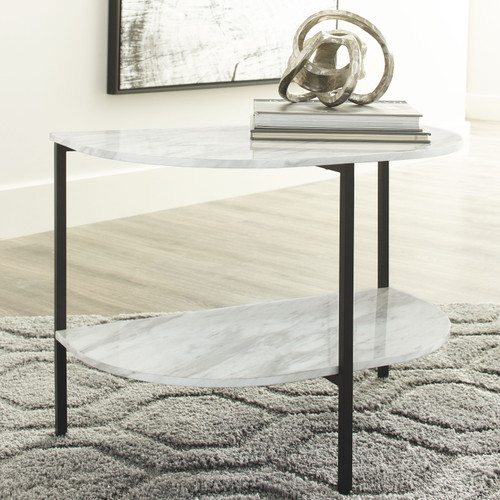 Donnesta Gray/Black Chair Side End Table