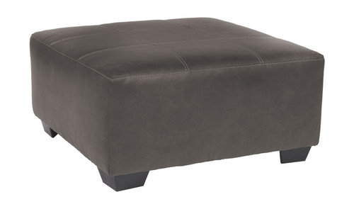 Aberton Gray Oversized Accent Ottoman