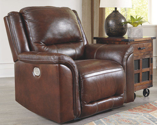 Catanzaro Mahogany Power Recliner/ADJ Headrest