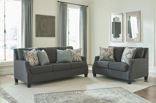 Bayonne Charcoal 2 Pc. Sofa, Loveseat