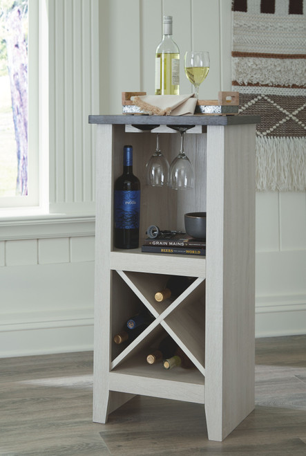 Turnley Antique White Wine Cabinet