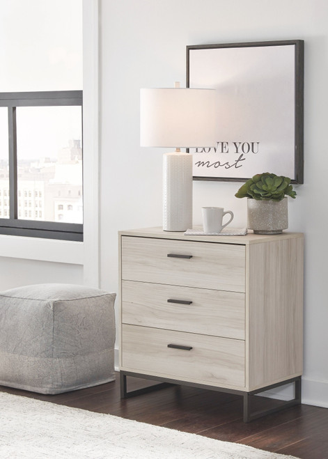 Socalle Natural Three Drawer Chest