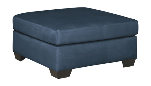 Darcy Blue Oversized Accent Ottoman