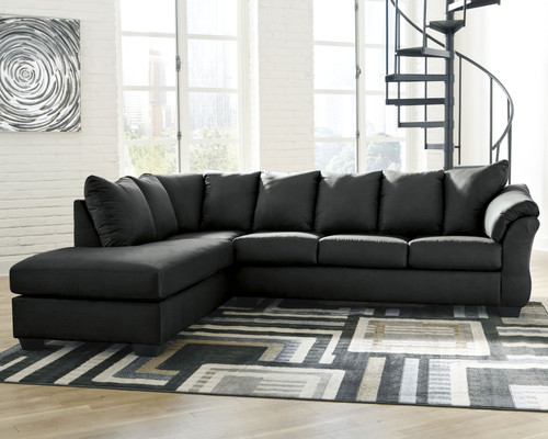 Darcy Black LAF Corner Chaise & RAF Sofa Sectional