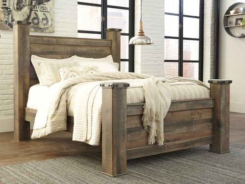 Trinell Brown Queen Poster Bed