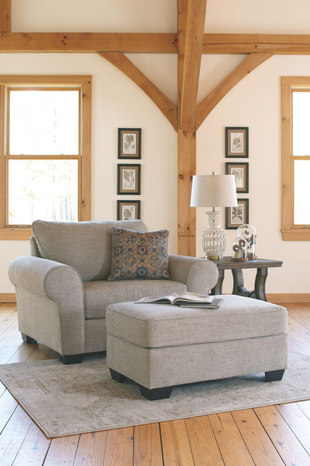 Belcampo Jute Chair and a Half with Ottoman