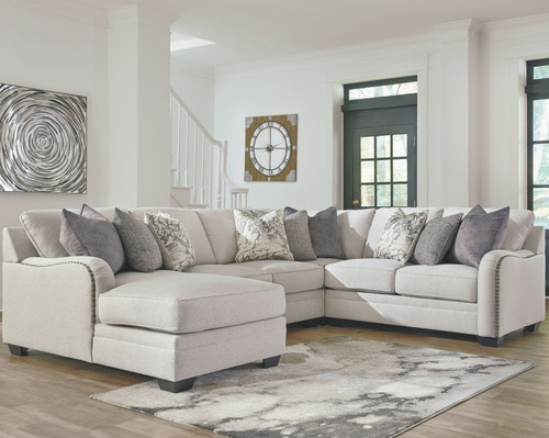 Dellara Chalk 4-Piece Sectional with Chaise