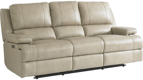 Parsons Power Reclining Sofa with Lumbar- Flax