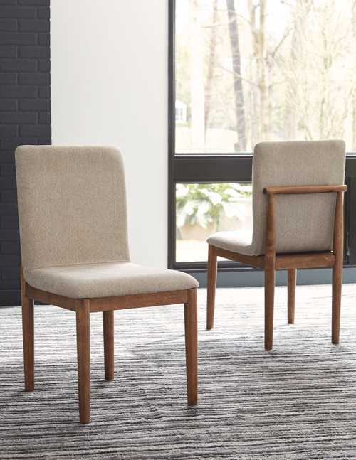 Isanti Light Brown Dining Upholstered Side Chair (2/CN)