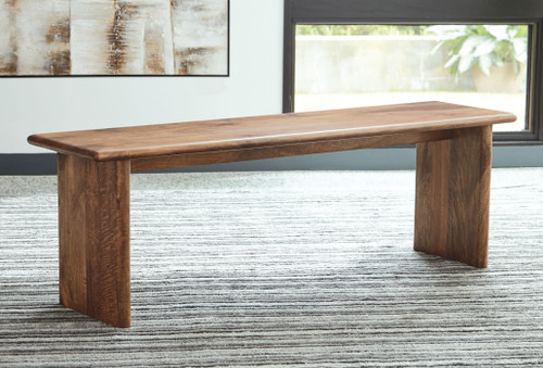 Isanti Light Brown Dining Room Bench