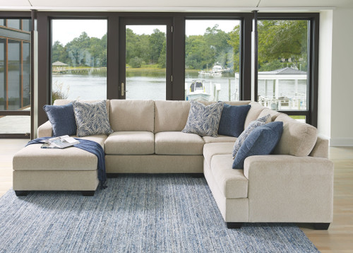 Enola Sepia Left Arm Facing Corner Chaise, Armless Loveseat, Wedge, Right Arm Facing Loveseat Sectional