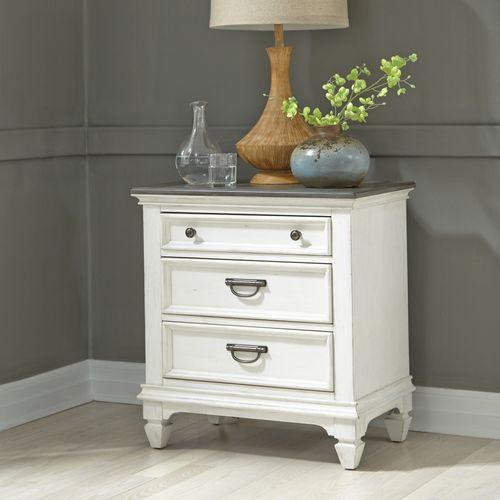Allyson Park Nightstand w/ Charging Station