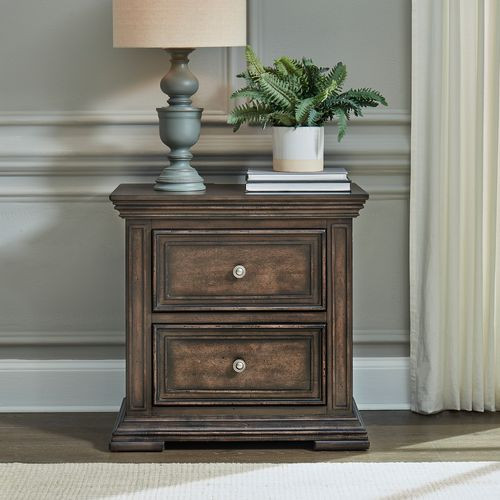 Big Valley 2 Drawer Nighstand w/ Charging Station