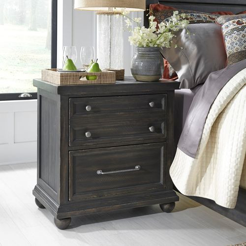 Harvest Home Nightstand w/ Charging Station