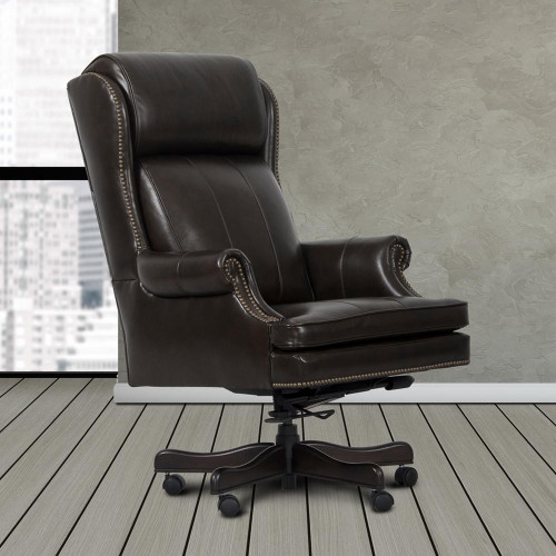 Leather Brown Desk Chair