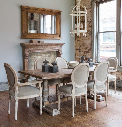 White Washed Dining Table & 6 Chairs