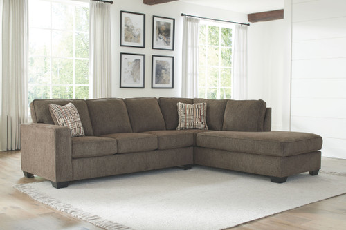 Nordale Mocha Left Arm Facing Sofa, Right Arm Facing Corner Chaise Sectional