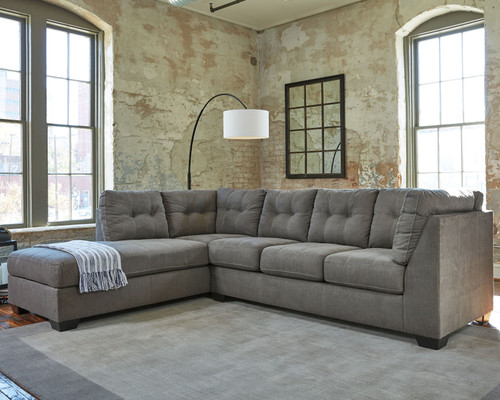 Pitkin Slate Left Arm Facing Corner Chaise, Right Arm Facing Sofa Sectional
