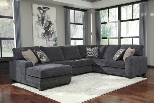 Tracling Slate Left Arm Facing Corner Chaise, Armless Loveseat, Right Arm Facing Sofa Sectional