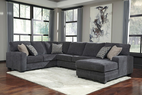Tracling Slate Left Arm Facing Sofa, Armless Loveseat, Right Arm Facing Corner Chaise Sectional
