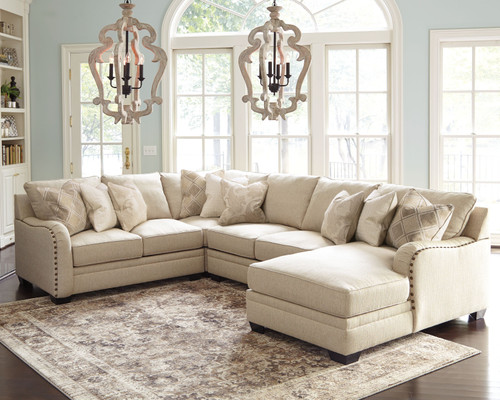 Luxora Bisque Left Arm Facing Loveseat, Wedge, Armless Loveseat, Right Arm Facing Corner Chaise Sectional