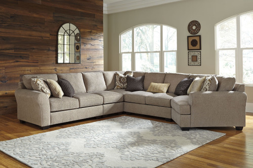 Pantomine Driftwood LAF Loveseat, Armless Chair, Wedge, Armless Loveseat, RAF Cuddler Sectional