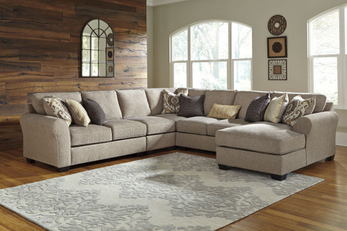 Pantomine Driftwood LAF Loveseat, Armless Chair, Wedge, Armless Loveseat, RAF Corner Chaise Sectional