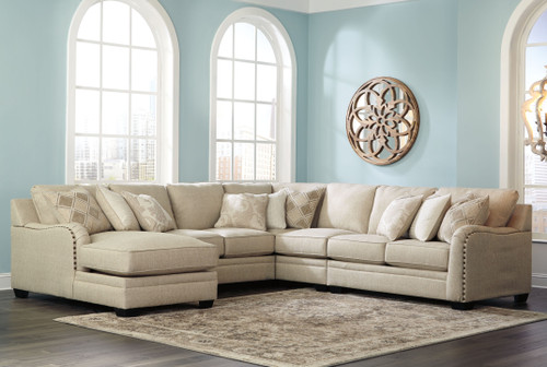 Luxora Bisque Left Arm Facing Corner Chaise, Armless Loveseat, Wedge, Armless Chair, Right Arm Facing Loveseat Sectional