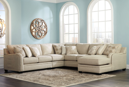 Luxora Bisque Left Arm Facing Loveseat, Armless Chair, Wedge, Armless Loveseat, Right Arm Facing Corner Chaise Sectional