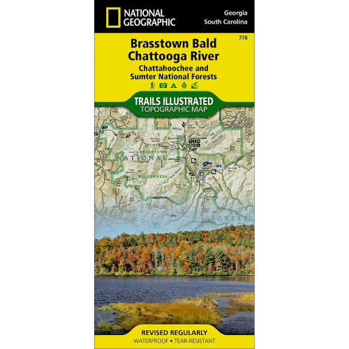 National Geographic Brasstown Bald Chattooga Map