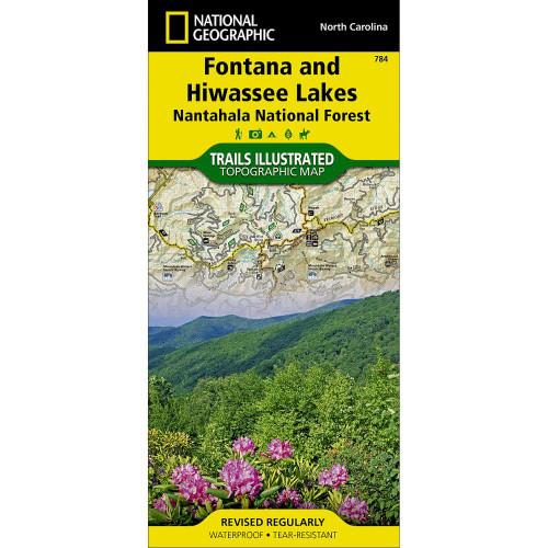 National Geographic Fontana & Hiwassee Lakes Map