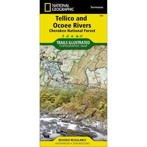 National Geographic  Tellico & Ocoee Rivers Cherokee National Forest Map