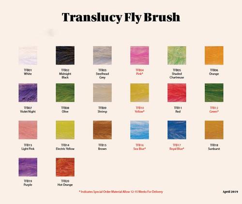 "H20 Translucy Fly Brush 1"""