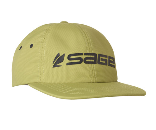 Sage Relaxed Nylon Hat - Green