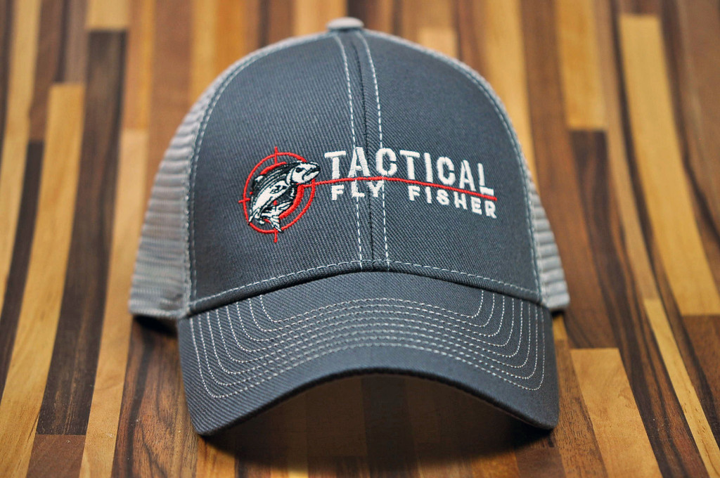 Tactical Fly Fisher Trucker Hat (gray)