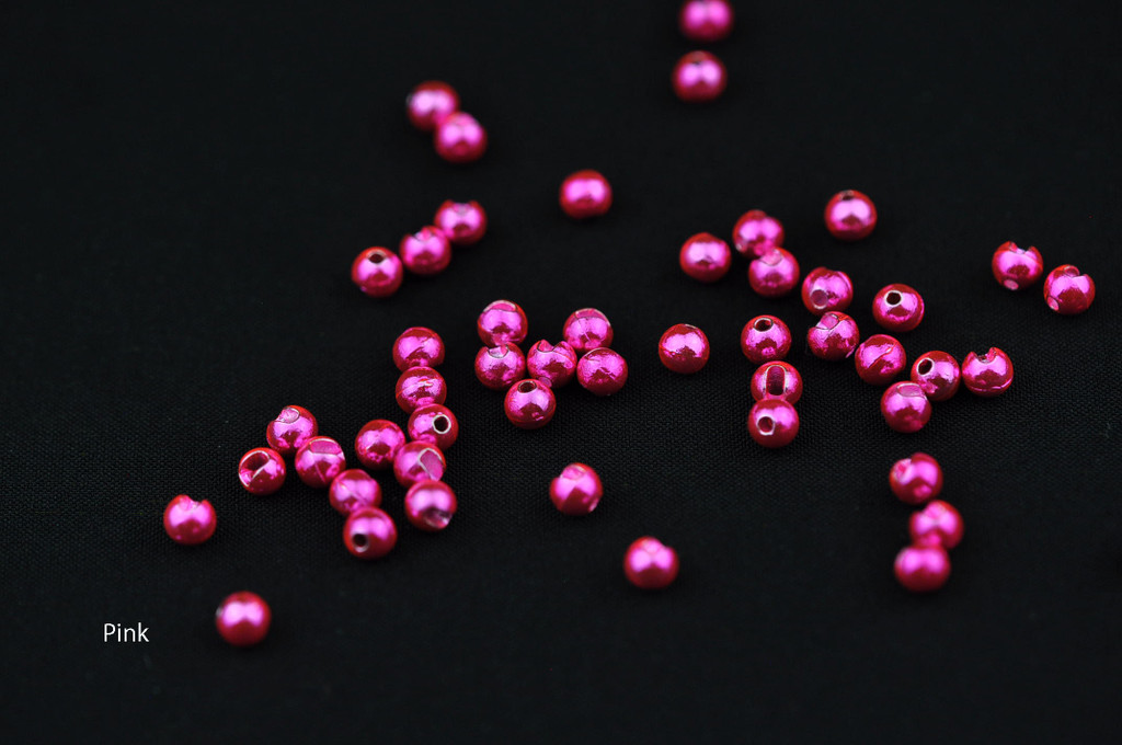 Tactical Fly Fisher Slotted Tungsten Beads 50 Pack Metallic Colors (Red, Olive, Pink, Light Pink, Pale Pink, Orange, Purple, Coffee, Shiny Brown, Rainbow)