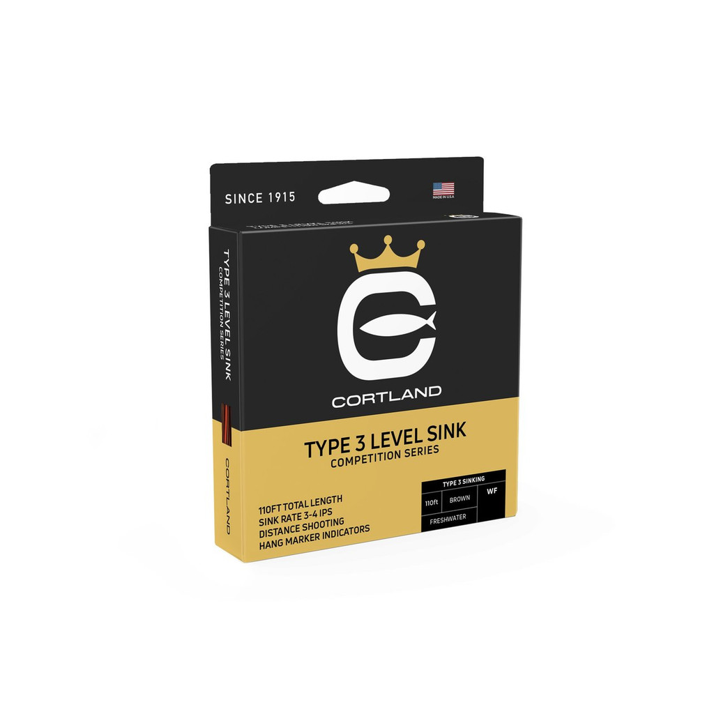 Cortland Competition Type 3 Level Sink Fly Line