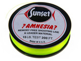 Amnesia Shooting Line Monofilament Fl. Green and Fl. Red