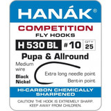 Hanak 530 pupa/allround barbless hook