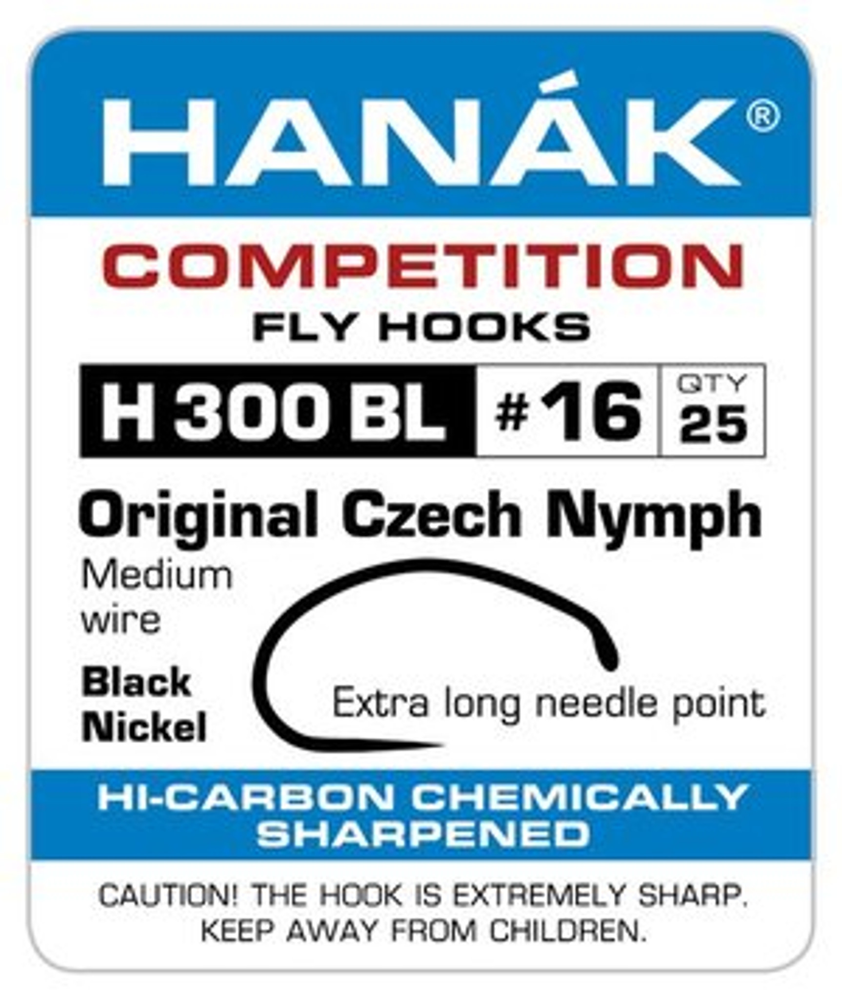 Hanak H333 BL Czech Nymph Barbless Competition Fly Tying Fishing Hooks All Sizes