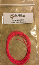 Cortland hot pink backing for trailing hooks
